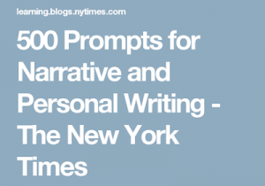 500 prompts for narrative and personal writing